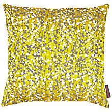 Buy Clarissa Hulse Garland Patchwork Cushion, Turmeric/Storm Online at johnlewis.com