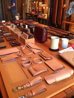 Tanner Goods- Tanner Goods Take care of all of your leather goods needs at the retail extension of Tanner's workshop - Leather Carving, Leather Art, Sewing Leather, Leather Pattern, Leather Design, Leather Tooling, Leather Wallet, Leather Store, Leather Bench