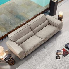 The Mokambo sofa by Gamma Arredamenti represents the finest in Italian made seating, with a hardwood frame built to last. Ultra-thick hide is the signature of a Gamma sofa. Each piece is made by hand and has its own uniqueness. There is really no comparison to the quality, hand, and comfort.