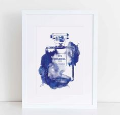 Chanel water colour in INK A4 digital download by hellomrmoon