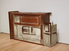Doris Salcedo Untitled (Armoire), 1992 Wood furniture, steel, and cement 45 x 73 1/2 x 20 in. (114.3 x 186.7 x 50.8 cm) Untitled (...