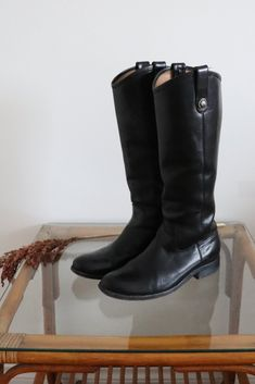 Sole shows sign of wear. Frye Riding Boots, Tavistock, Calves, Legs, Green, Leather, How To Wear, Accessories, Shopping