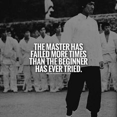 The master has failed more times than the beginner has even tried