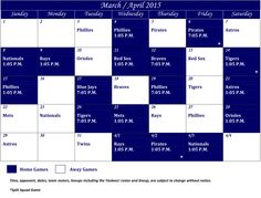 2015 Spring Training Calendar