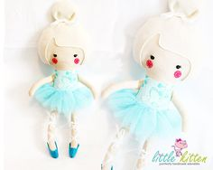 Ballerina Doll Plush  Kyra  Ready to Ship  ON by ShopLittleKitten, $35.00