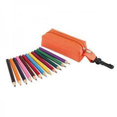 """Pouch with pencils """"Small Idea"""", orange"""