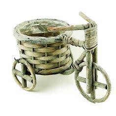 Triciclo em Ratan com Cesto Redondo