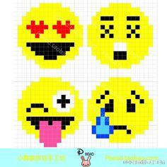 Emojis Perler Bead Pattern