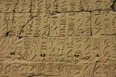 """The ancient Egyptians called their script mdju netjer, or """"words of the gods."""" Hieroglyphs were the earliest form of Egyptian script, and also the longest-lived.  Egyptian hieroglyphics - Karnak Temple"""