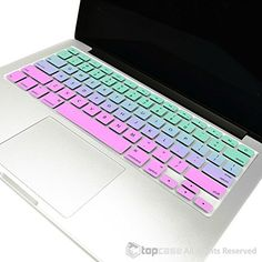 "TopCase Faded Ombre Series Hot Blue & Purple Silicone Keyboard Cover Skin for Macbook 13"" Unibody / Macbook Pro 13"" 15"" 17"" with or without Retina Display / New Macbook Air 13"" / Wireless Keyboard TOP CASE http://www.amazon.com/dp/B00SHZRIA0/ref=cm_sw_r_pi_dp_8Nm-ub02N2H8N"
