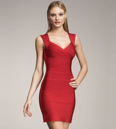 Red Shining Foil Panel Sleeveless Petit Celebrity Sexy Bodycon Bandage Dress