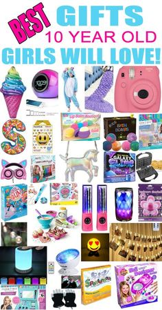 Gifts 10 Year Old Girls! Best gift ideas and suggestions for 10 yr old girls. Top presents for a girl on her tenth birthday or Christmas! Coolest gifts for that special girl. Get the top gifts on any tween or teen girls gift list or gift guide now! Birthday Presents For Girls, Birthday Gifts For Girlfriend, Gifts For Kids, Gifts For Little Girls, Gifts For Tweens, Girl Birthday Gifts, Teen Girl Birthday, Teen Presents, Birthday Games