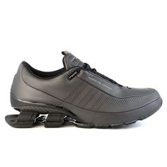 porsche Design Sport by adidas streamlined its award-winning BOUNCE TM running technology to create a lighter, more elegant spring system. These men's BOUNCE TM:S4 shoes feature a full premium leather