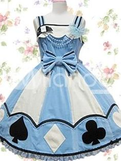 alice in wonderland lolita style dress