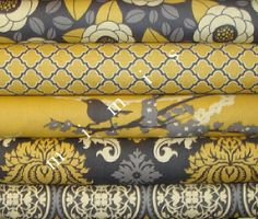 Yard Bundle / Joel Dewberry Fabric / Aviary 2 Collection /  Vintage Yellow - Cotton Quilt Fabric. $49.99, via Etsy.