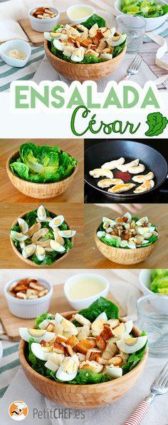 Caesar salad - the classic recipe, Recipe Petitchef Cesar Salat, Juice Cafe, Comidas Fitness, Good Food, Yummy Food, Good Healthy Recipes, Vegan Life, Mayonnaise, Salad Recipes