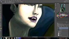 Digital Painting Tutorial: Vampira Parte 3/3