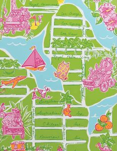 Lilly Pulitzer Patterns, Lilly Pulitzer Prints, Lily Pulitzer, Palm Beach Florida, West Palm Beach, Life In Paradise, Happy Art, Back Home, Whimsical