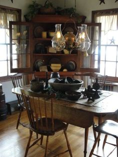 love this dining room! | primitive touches | pinterest