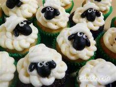Art Cute cupcakes sheep-collection