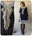 Knit one piece with checked ends