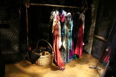 The Wardrobe Department . beautifully lit for added atmosphere. Wardrobe Rack, Theatre, Furniture, Home Decor, Decoration Home, Room Decor, Theater, Home Furnishings, Arredamento