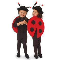 Lovely Lady Bug!!!!    Materials  Scissors  2 (12- by 18-inch) sheets of red stiff felt (we used E-Z Felt brand)  9- by 12-inch sheet of black stiff felt  Hole punch  2 yards of 1/2-inch-wide black ribbon  Tacky glue    For instructions visit http://familyfun.go.com/crafts/lovely-ladybug-669122/