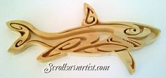 Scroll Saw Patterns :: Miscellaneous :: Tribal Style :: Tribal style shark -