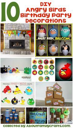 65+ DIY Angry Birds Party Ideas