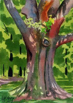 Big Red Oak original fine art by Jeff Atnip