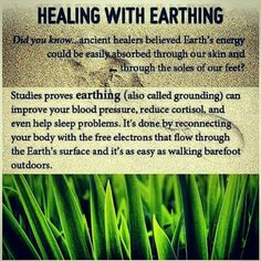 Earthing... Fascinating.  You CAN be healed!!!!!!!  Mother Earth... THANK YOU!!!!!