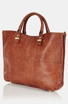 Topshop Woven Lady Faux Leather Tote | Nordstrom
