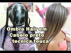 Mechas Ombre hair na Touca em cabelo Preto tecnica da xuxinha - YouTube