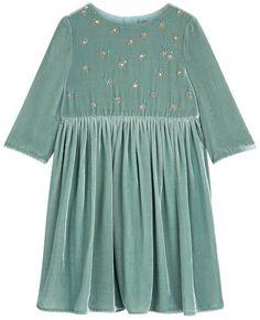 Shoreditch Flower Beads Velvet Dress