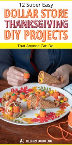 Looking for easy Dollar Tree Thanksgiving DIY projects and ideas? While food is a definite maker-or-breaker for the Thanksgiving vibe, don't underestimate the power of great themed decor. You don't have to spend a ton! You can make some pretty impressive cheap Thanksgiving DIY crafts for kids and adults alike by taking a little trip to the dollar store. These dollar store Thanksgiving ideas from The Krazy Coupon Lady are just what you need! #thanksgivingcrafts #dollartreediy #thanksgivingdiy Thanksgiving Snacks, Thanksgiving Decorations, Do It Yourself Organization, Coupon Lady, Happy Fun, Homemade Crafts, Household Tips, Dollar Tree, Diy Crafts For Kids