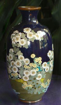 Unique Japanese Cloisonne Enamel  Vase