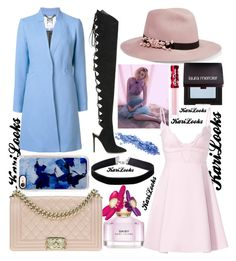 """MJ Pink Daisy"" by karilooks ❤ liked on Polyvore featuring Marc Jacobs, Eugenia Kim, Milly, Giambattista Valli, Alexandre Vauthier, Chanel, Casetify, Miss Selfridge, Laura Mercier and Lime Crime"