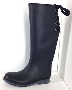 New arrivals! #COACH Lace Up #RainBoots Tristee Rubber Womens Size 7 Black MSRP $148 #Style http://www.ebay.com/itm/COACH-Tristee-Lace-Up-Rain-Boots-Womens-Size-7-Black-148-/162199698508?