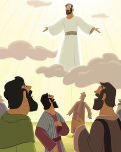 Jesus Prepared the Disciples- Unit 33 Jesus Is Alive, Trust In Jesus, Jesus Help, Jesus Cartoon, Holy Spirit Come, Luke 24, Bible Illustrations, Bible Pictures, Jesus Resurrection