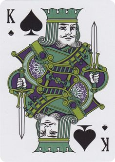 Playing Cards - Release King Of Spades, Custom Playing Cards, Tally Ho, House Of Cards, Cool Artwork, Game Design, Board Games, Tarot, Emerald