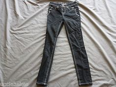 Justice Girls Black Jeans Size 10S