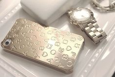 Marc by Marc Jacobs Metallic Stardust Logo iPhone Case & Army Watch