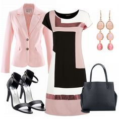 Carmen Outfit - Business Outfits at FrauenOutfits. - Outfits for Work Office Outfits Women, Komplette Outfits, Classy Outfits, Beautiful Outfits, Fashion Outfits, Womens Fashion, Rosa Blazer, Cuir Rose, Professional Dresses