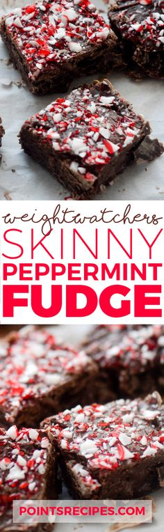 SKINNY PEPPERMINT FUDGE (Weight Watchers SmartPoints)