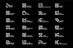 the new MIT Media Lab identity by pentagram's michael bierut and aron fay features an ML monogram and 23 sub-logos based on a 7x7 grid.