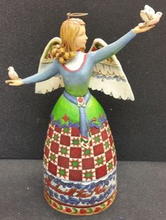 "JIm Shore ""Peace and Goodwill to All"" Angel with Birds  - http://collectiblefigurines.net/jim-shore/angels/jim-shore-peace-and-goodwill-to-all-angel-with-birds/"