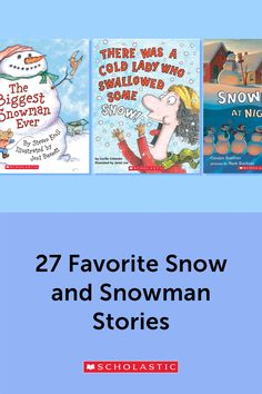 Students will cozy up to these fiction and nonfiction winter stories. These 27 books all about snow and snowmen are the right choice for winter read-alouds in any classroom. Preschool Books, Preschool Kindergarten, Book Activities, Elementary School Library, Elementary Schools, Christmas Books For Kids, Pat Benatar, Fiction And Nonfiction, Unit Studies