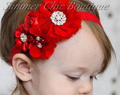 Aqua flor diadema arco del pelo del bebé venda del bebé