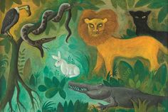 Jungle and animals paintings by Danish Hans Scherfig | NordicDesign