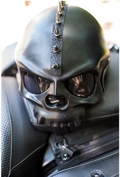 Awesome skull motorcycle helmet with our spike mohawk: http://www.ironhorsehelmets.com